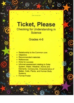 Ticket, Please: checking for understanding in Science
