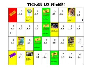 Ticket to Ride - Multiplication