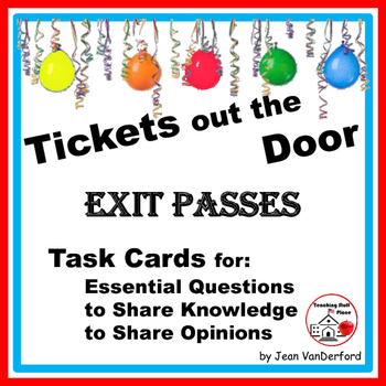 NEW ♥ Tickets out the Door | Essential Questions | EXIT PA