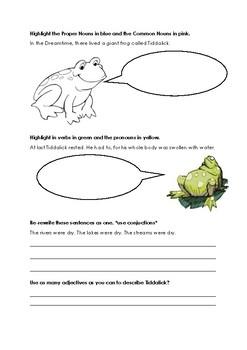 Tiddalick the Frog - Grammar worksheet