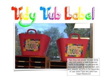 Tidy Tub Label