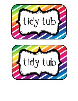 """""""Tidy Tubs"""" Table - Grouped Desks Labels - Colorful Diagon"""