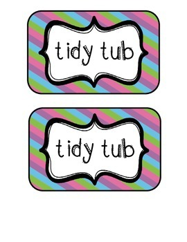 """""""Tidy Tubs"""" Table - Grouped Desks Labels - Pretty Diagonal"""
