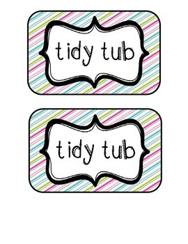 """Tidy Tubs"" Table - Grouped Desks Labels - Pretty Diagonal"