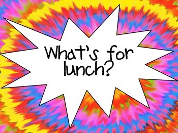 Tie Dyed Lunch
