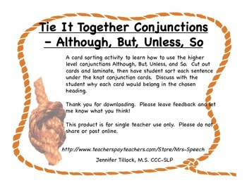 Tie It Together Conjunctions