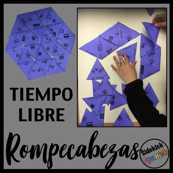 Tiempo Libre vocabulary Puzzles (free time / cultural activities)