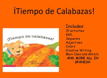 Tiempo de Calabazas It's pumpkin time! Spanish