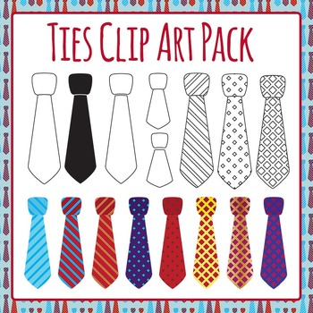 Ties Clip Art Pack - For Father's Day for Commercial Use