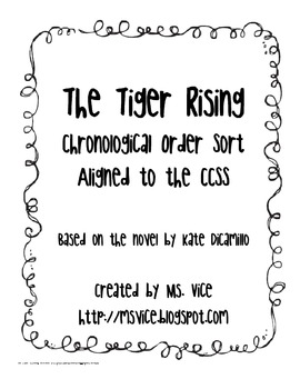 Tiger Rising Chronological Order Sort