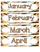 Tiger Stripes Calendar Numbers, Months and Days