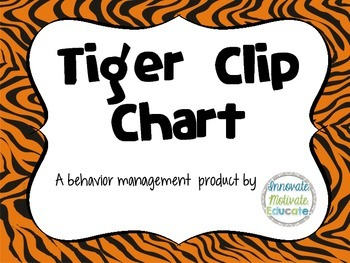 Tiger-Themed Clip Chart: A Behavior Management System