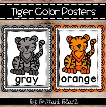 Tiger Themed Color Posters