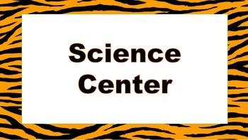 Tiger themed center signs