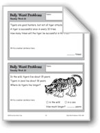 Tigers (Daily Word Problems-Week 23)