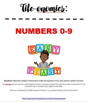 Tile-onomics! Numbers 0-9