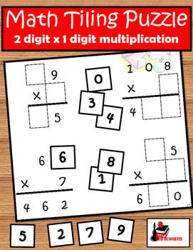 Tiling - 2 digit x 1 digit Multiplication... by Raki's Rad ...