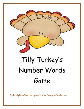 Tilly Turkey's Numbers to Words Game