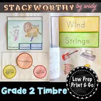 Grade 2 Timbre & Articulation Music Interactive Notebook