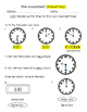 Time Assessment: to the hour and half hour