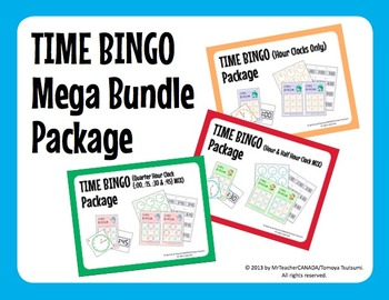 Time Bingo Mega Bundle (:00 Only, :00 & :30 Mix, and :00,