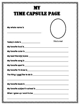 End of Year - Time Capsule