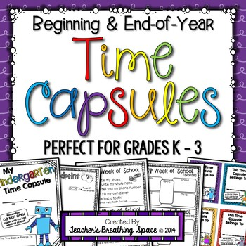 Time Capsules --- Beginning and End-of-Year Memory Book fo
