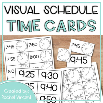 Analog & Digital Time Cards in 5 Minute Intervals {Schedul
