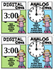 Telling Time Clock Posters Kindergarten and First Grade