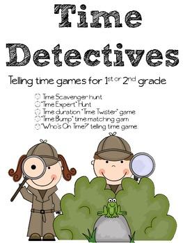 Time Detectives - Telling Time to Five minutes Games and S
