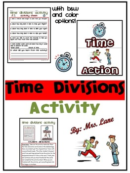 Time Divisions Activity