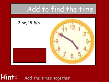 Time - Elapsed Time; Real World Math