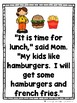 Time For Lunch  (A Sight Word Emergent Reader)