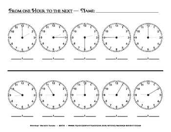 Time - From One Hour to the Next