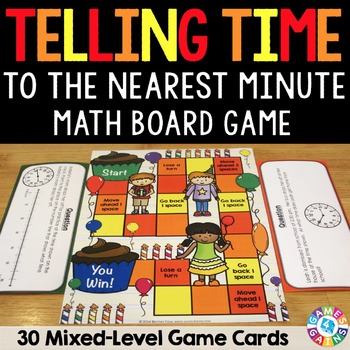 Telling Time Activity: Telling Time to the Minute Game (3.MD.1)