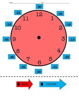 Time: Hour and Minute Identification Packet