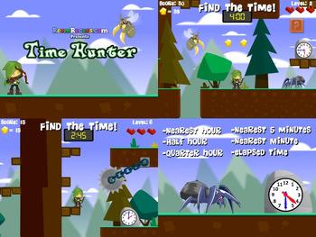 Time Hunter   Telling Time   Clock Game   Free at RoomRecess.com
