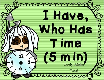 I have Who Has: Reading Time Game