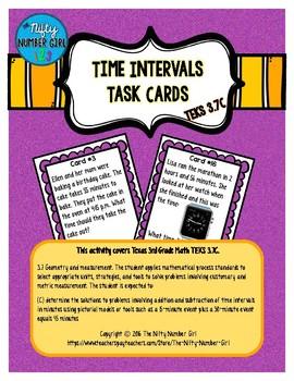 Time Intervals Task Cards TEKS 3.7C