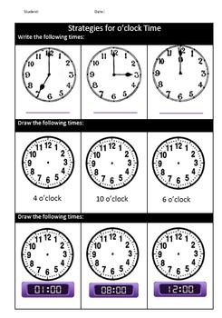 Time Grade 1/2