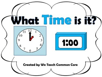 Time Matching-Analog to Digital Clock Math Station Activity