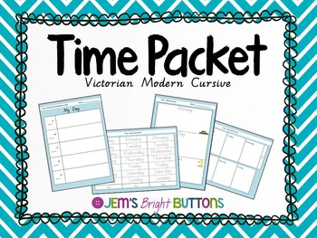 Time Packet (days, duration, order of events) Victorian Mo