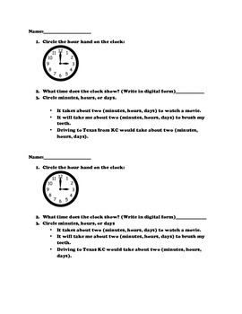 Time PreAssessment