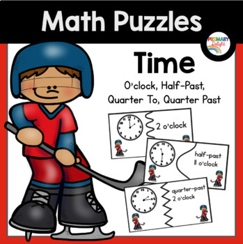 Time Puzzles with Words: O'clock, Half-Past, Quarter To, Q