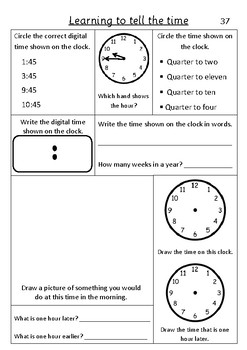 Time Quarter to - Pack 4