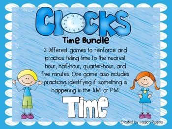 It's About Time!! Bundle of games to review telling time!