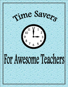 Time Savers for Awesome Teachers: Content Note Sheets
