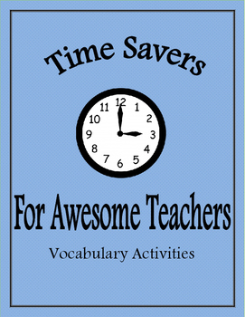 Time Savers for Awesome Teachers: Vocabulary Activities