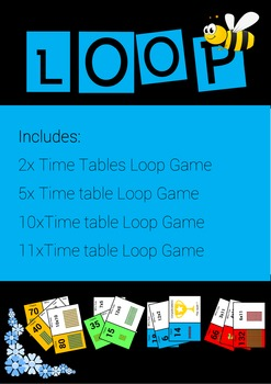 Time Tables 2, 5, 10, and 11 Loop Games - Beginner