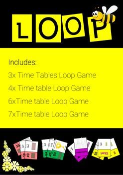 Time Tables 3, 4,6 and 7 Loop Games - Intermediate